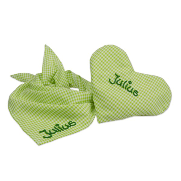 Personalisiertes Geschenk zur Geburt oder Taufe Grün für Junge