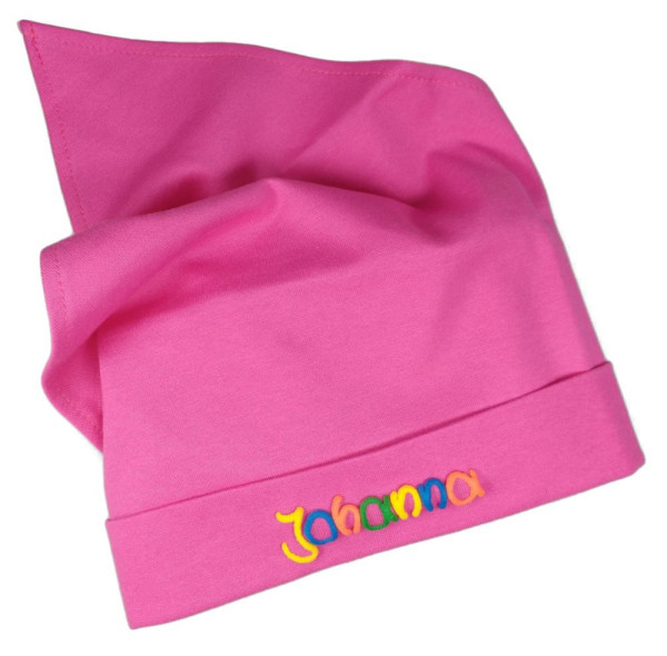 Kopftuch für Mädchen mit Namen pink