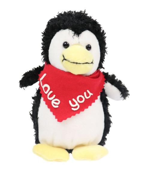 Pinguin 15cm mit Namen am Halstuch