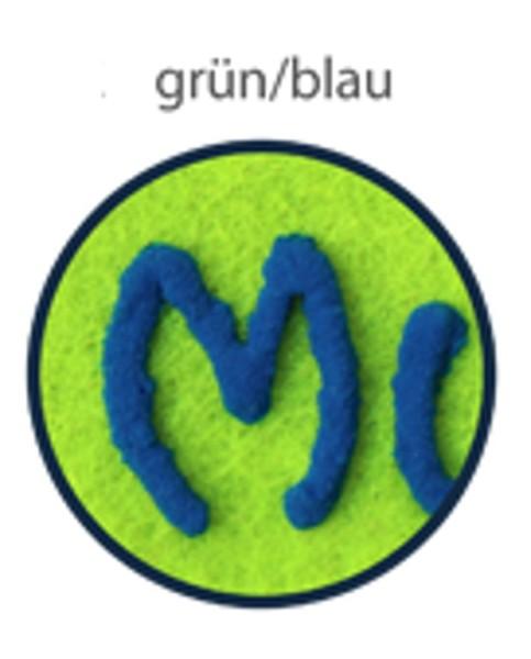 Schluesselanhaenger aus Filz mit Namen gruen