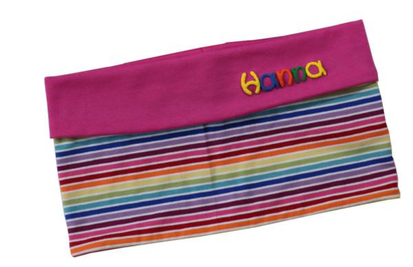 Kinder Loop - Schal mit Namen - gestreift
