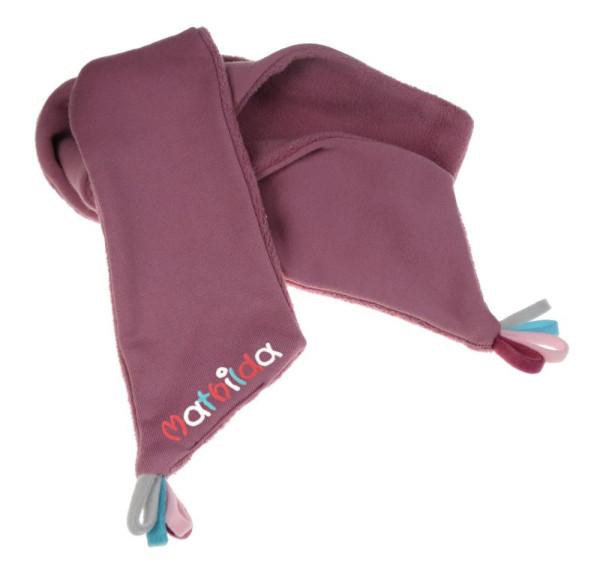 Schal Fleece mit Namen 110cm - Kuschelschal - Für Kinder