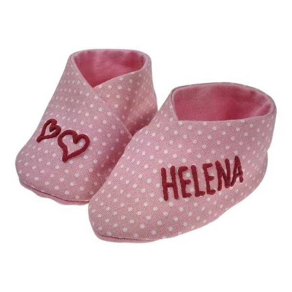 Babyschuhe rosa mit namen