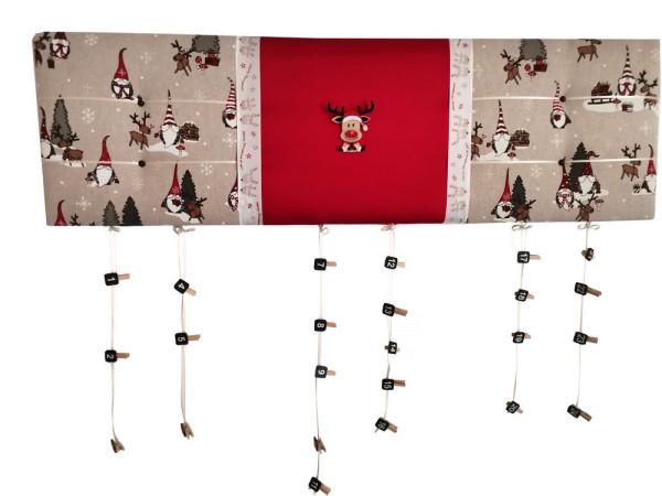 Adventskalender Weihnachten 100x30cm