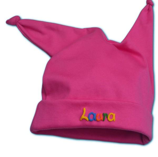 Mütze mit Namen pink
