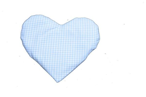 Körnerkissen mit Rapsfüllung Herz blau