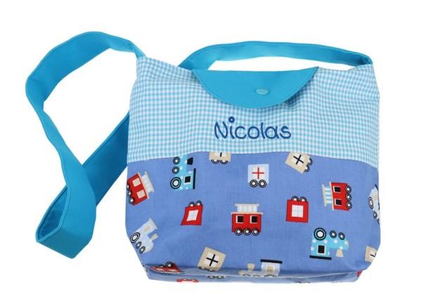 Kindergartentasche für Jungen Lokomotive mit Wunschname