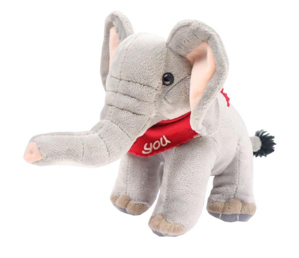 Elefant 19cm mit Namen am Halstuch
