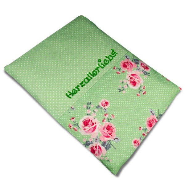 Wärmekisschen Rosen Grün mit Namen