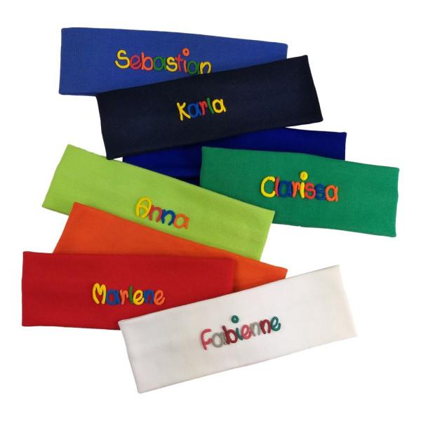 Stirnband aus Baumwolle mit Namen für Kinder