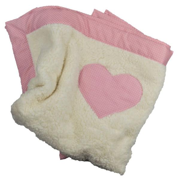Babydecke mit Herz inmdividuell beschriftet