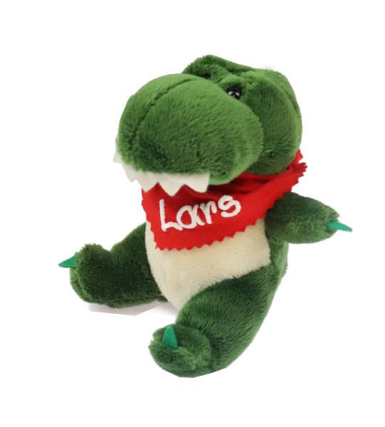 Krokodil 13,5cm mit Namen am Halstuch