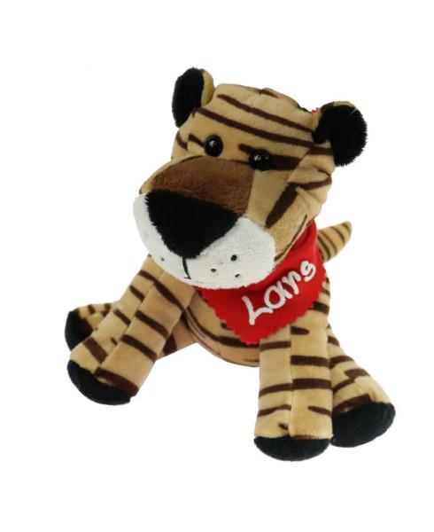 Tiger 16cm mit Namen am Halstuch