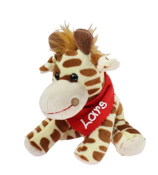 Giraffe 18,5cm mit Namen am Halstuch