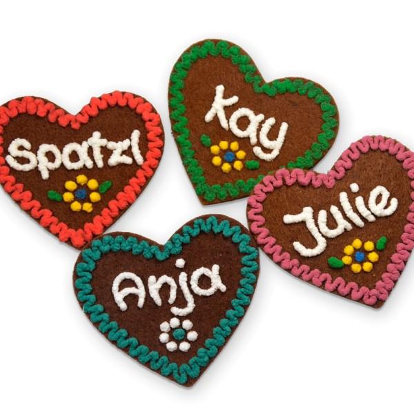 Herzen mit Namen