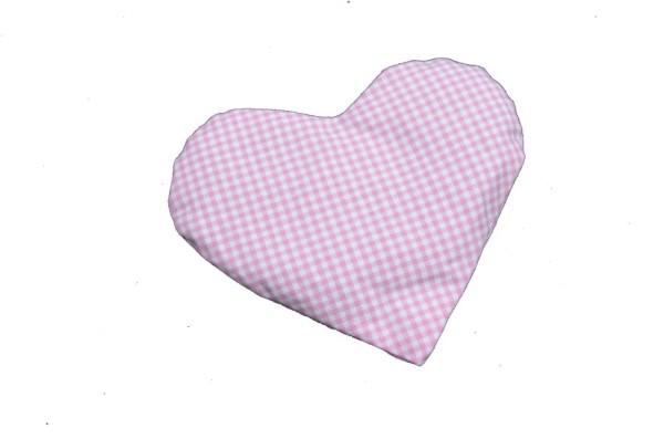 Körnerkissen mit Rapsfüllung Herz rosa